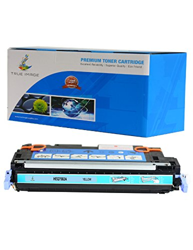 - TRUE IMAGE HEQ7582A-Y503A Compatible Toner Cartridge Replacement for HP Q7582A (Yellow)