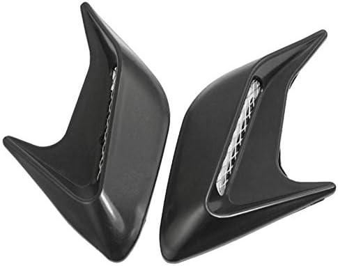 New Car Auto Racing Air Flow Fender Mesh Side Decoration Vent Sticker Black