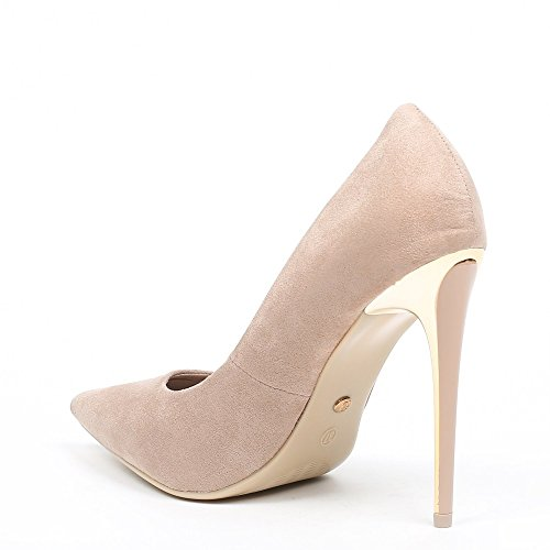 Ideal Shoes, Damen Pumps Beige