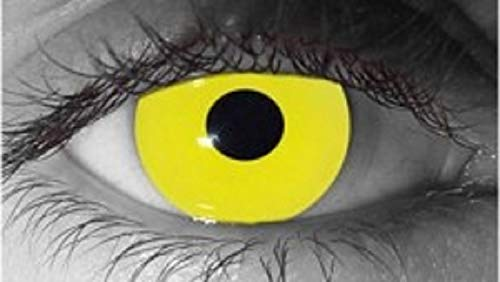 Cosplay Eyes Multi-Color Contact Lenses Cosplay Eyes Cute Colored Charm and Attractive Blends Cosmetic Makeup Eye Shadow (ZOMBIE YELLOW)
