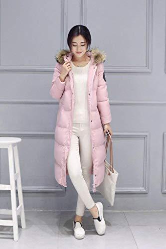 longues vestes de plein hiver matelassé marque capuche Manteau rose mode manchon hiver de chauds épaissir doudoune air élégant à manteaux femmes bas vestes EqF66t