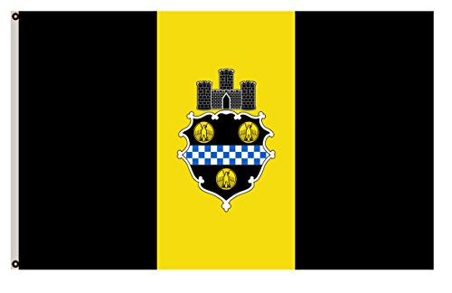 City Pittsburgh Flag (Fyon Pennsylvania banner City of Pittsburgh Flag 2x3ft)