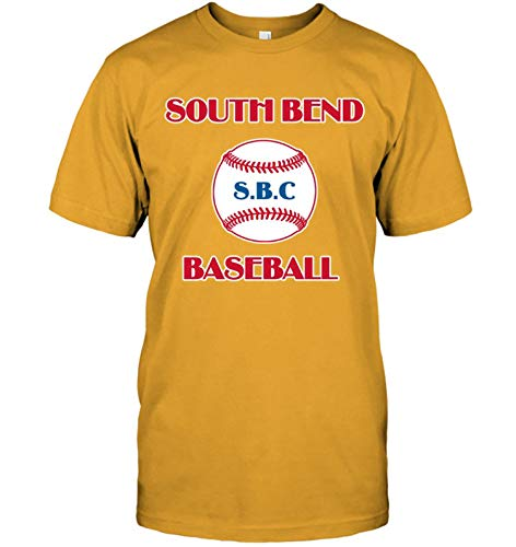 HOSALA T-Shirts Printed South Bend Baseball Tee Cotton Mens(Small,Style - South Baseball Bend