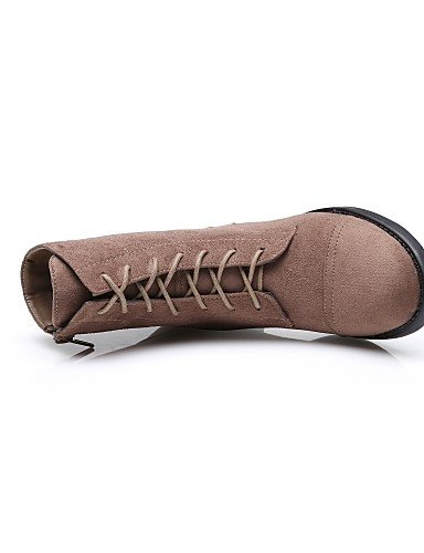 Casual Mujer Xzz Cn41 Botas Brown Cuero Marrón Cn38 Brown Moto 5 Eu38 Zapatos Tacón Sintético Uk7 De us9 Uk5 Eu40 5 us7 Anfibias Exterior Robusto zETrzqf