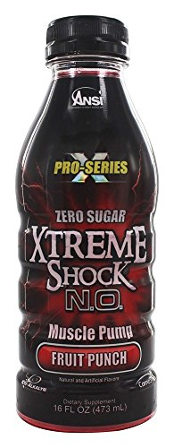 Rtd Fruit (ANSI (Advanced Nutrient Science) - Xtreme Shock N.O. Pro Series RTD Muscle Pump Fruit Punch - 16 oz. (Pack of)