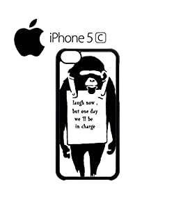 Banksy Monkey Laugh Now Revolution Cell Phone Case Cover iPhone 5c Black by hollowden