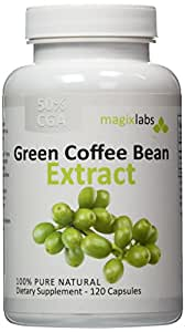 Pure Green Coffee Bean Extract - 100% Pure - Double Strength 800mg - 120 Vegetarian Capsules - Full 60 Day Supply of 1,600mg Daily Servings – An All Natural Weight Loss Supplement