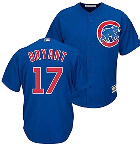Majestic Kris Bryant Chicago Cubs Youth Cool Base Alternate Blue Replica Jersey Large 14-16