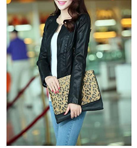 Fall Coat Slim Jacket Black Mogogo Front Fit College Women's Trench Zip Winter ZU00xFwq
