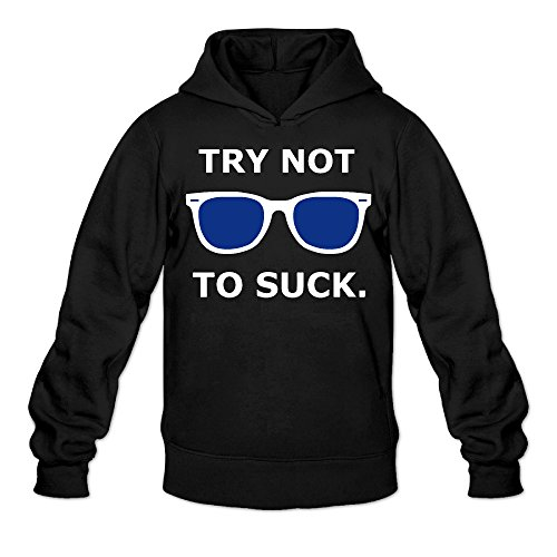 Try Not To Suck Joe Maddon Boys.boys' Black Crew-neck Sweatshirt - Glassses Cheap