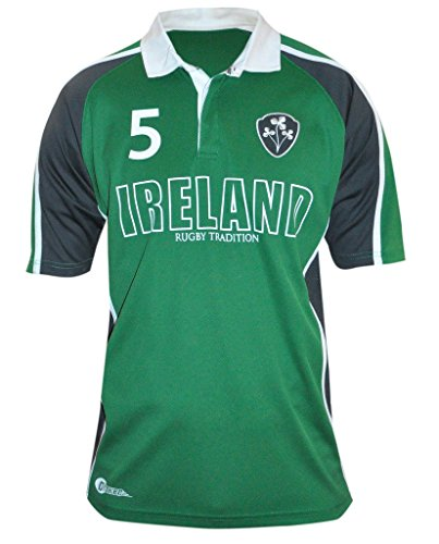- Croker Green Panelled Ireland Rugby Jersey, X-Large