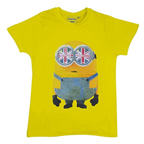 Character Minions Boys 'Yellow' 100% Cotton T Shirt (7 Years) ()