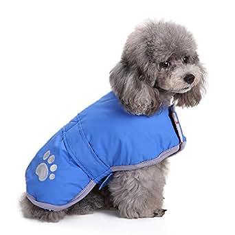 Amazon.com: Dog Coat Winter Pet Clothes Check Reversible