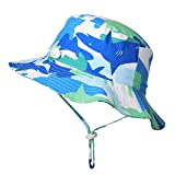 Zeltauto Kid's Bucket Hat with Chin Strap Summer Sun Protection UPF 50+ (M, Camouflage)
