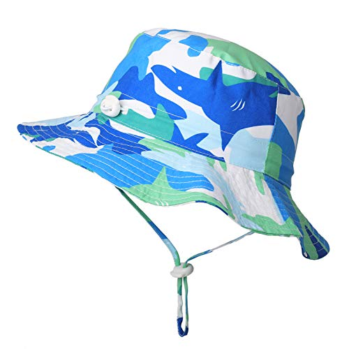 Flammi Baby Sun Bucket Hat Adjustable Mesh Lined UV Protection (Tag 54, 30 Months-5 Years, Camouflage) ()