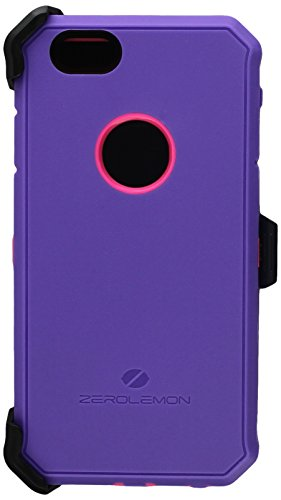 (iPhone 6S Rugged Case,ZeroLemon Protector Series Rugged Case + PET Screen Protector for iPhone 6/6s 4.7 inch (Fits All Versions of iPhone 6/6s)[180 Days ZeroLemon Warranty Guarantee] -Purple/Pink)