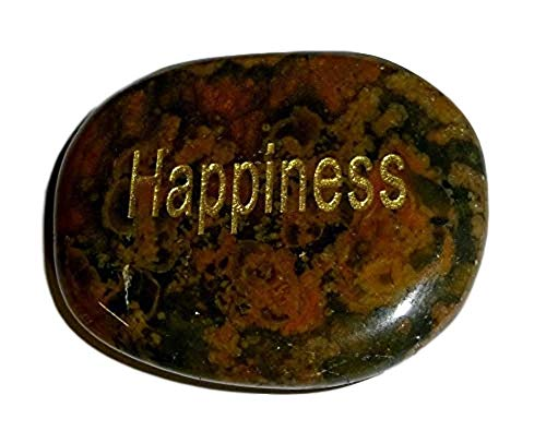 - Sublime Gifts 1pc Rhyolite Rainforest Jasper Happiness Engraved Totem Energy Crystal Healing Gemstone Smooth Polished Worry Palm Stone