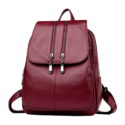 Blue Backpacks Leather Backpack Satchel Bags Women Fashion Shoulder School Xq8CnxwF