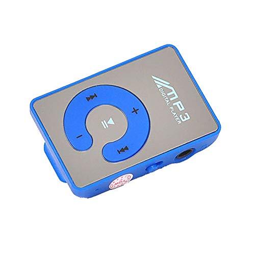 Huangou ❤ Clip MP3 Player ❤ Mirror Clip USB Digital Mp3 Music Player Support 1-8GB SD TF Card (C, 4.3cm x 2.9cm x 1.7cm) ()