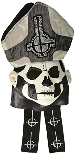 Loftus International Trick or Treat Studios Ghost! Papa Emeritus II Deluxe Full Head Mask One-Size Novelty Item -