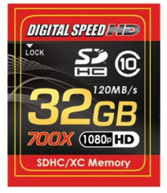 Digital Speed 32GB 700X Professional High Speed 120MB/s Error Free (SD) Memory Card Class 10 by Digital Speed