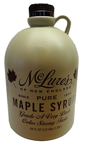 McLures Pure Grade A Very Dark New England Maple Syrup 64 Fl Oz