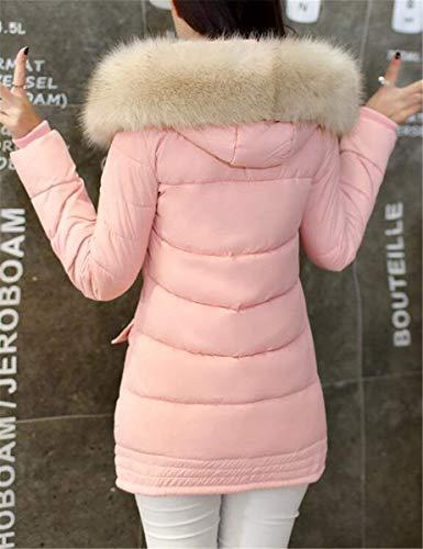 Largas Encapucha Mujer Abrigos Parkas Espesar Invierno Rosa Con Weimilon Niña Tw8fCq4xt