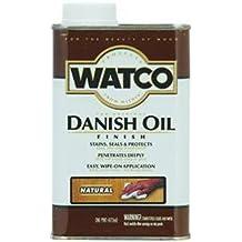 Watco 242221 Danish Oil Wood Finish, Low VOC, Pint, Dark Walnut