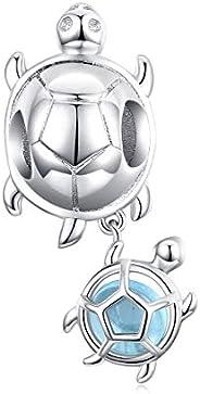 Colorful Enamel Unicorn Charms for Pandora Bracelets 925 Sterling Silver Animal Charms for Bracelets Unicorn N