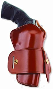 Galco International Wheelgunner Belt Holster for S and W L FR 686, 4-Inch (Tan, Ambi)