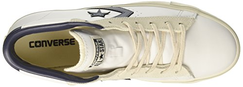 Converse Pro Lthr Vulc Mid, Sneakers para Hombre Blanco (White/black/turtledove)