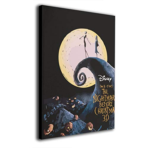 Zong Ten 12 X 16 Inch Paintings Nightmare Before Christmas Contemporary Artwork Abstract Art Wall Art Living Room Artwork On Canvas Ready to Hang Framed Art Bedroom Living Room]()