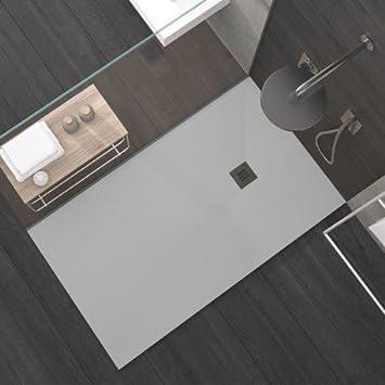Olimpo duchas - Plato Ducha de diseño gris claro acabado ...