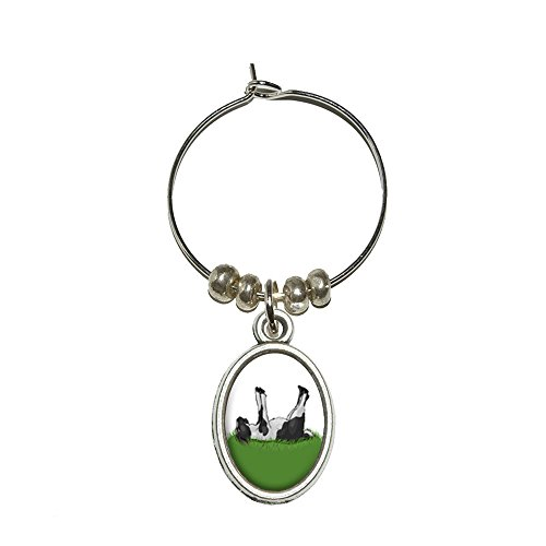 (Graphics and More Fainting Goat - Myotonic Wine Glass Oval Charm Drink Marker)