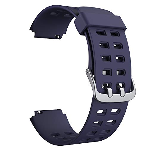 Soft Silicone Smart Watch Bands Replacement Straps Bands(23mm) for YAMAY SW020 ID205 Smart Watch (Blue)
