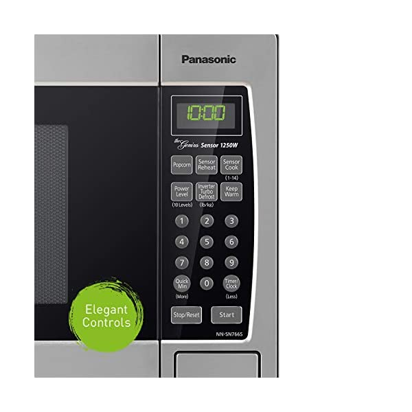 Panasonic Microwave Oven NN-SN766S Stainless Steel Countertop/Built-In with Inverter Technology and Genius Sensor, 1.6… 3