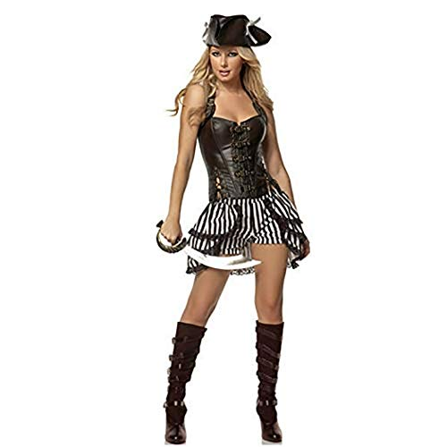 Cosplay Pirates of The Caribbean Queen Halloween Costumes for Women Costly Stage Witch Suit -