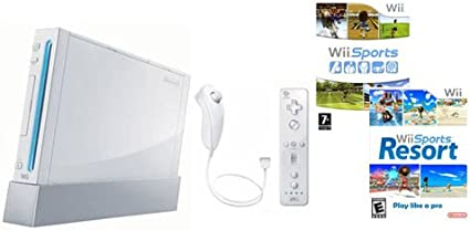 Console Wii blanche + Jeux Wii Sports + Wii Sports Resort [Importación francesa]: Amazon.es: Videojuegos