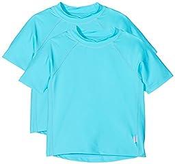 i play. Baby Short Sleeve Rashguard Shirt, Aqua, 6 Months