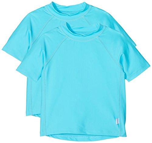 i play. Baby Short Sleeve Rashguard Shirt, Aqua, 24 Months