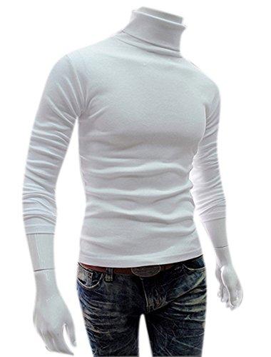 Men's Turtleneck Long-sleeved Casual Slim-Fit Pullover Sweater Bottom - Long Sleeved Turtleneck