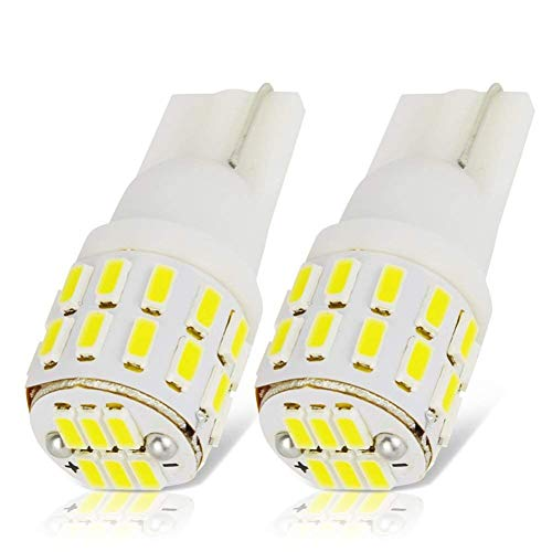 LncBoc T10 LED Bulbs W5W 194 168 Wedge Bulb Super Bright White 30-SMD 3014 LED Car Interior Lights Number Plate Dome Boot Side Lights Pack of 2 one year warranty