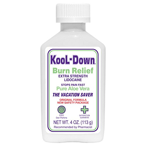KooL-Down (4 oz) 3.9% Lidocaine Pain Relief Cream (Best Topical For Sunburn)