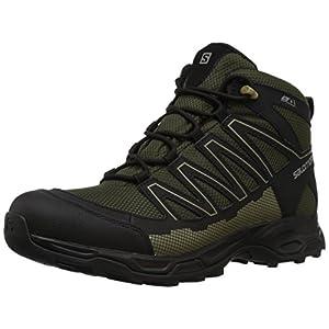 Salomon Men's Pathfinder Mid CSWP M Walking Shoe, Deep Depths/Black/Gothic Olive, 12 Medium US