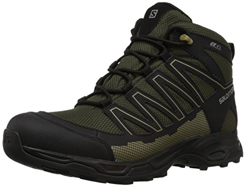 (Salomon Men's Pathfinder MID CSWP M Walking Shoe, deep Depths/Black/Gothic Olive, 9.5 M US)