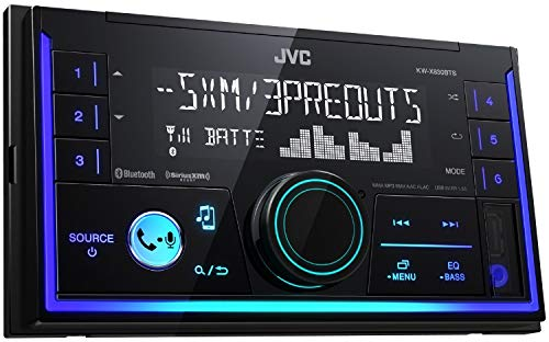 JVC KW-SX83BTS 2-Din Apple and Android Compatibility Digital Media Receiver Featuring Bluetooth
