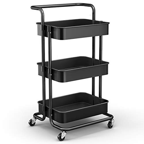 JOMARTO 3-Tier Rolling Utility Cart with