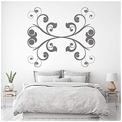 Amazon.com: banytree Embellishment Swirl Wall Sticker Headboard Wall ...