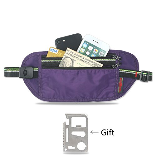 Money Belt, Anti-Theft Hidden Waist Stash for Travel and Sports Durable and Lightweight