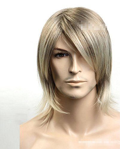 New Natural Long Sand Blond Man Wig